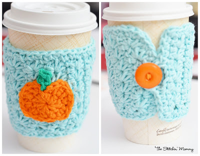 Star Stitch Pumpkin Coffee Cozy by The Stitchin Mommy