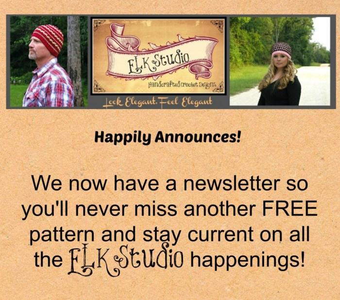 Newsletter announcement from ELK Studio
