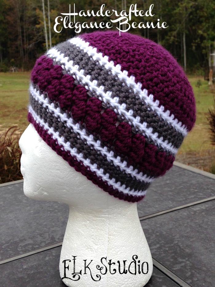 Handcrafted Elegance Beanie - A FREE Crochet Beanie by ELK Studio #crochet #beanie