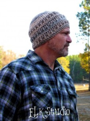 Hickory Bark Crochet Beanie by ELK Studio #crochet #freepatteern