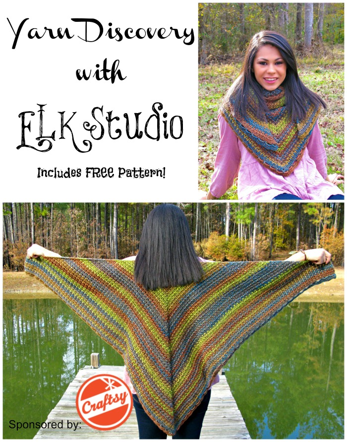 Yarn Discovery #4 by ELK Studio and Sponsored by Craftsy #freecrochet #pattern #shawl