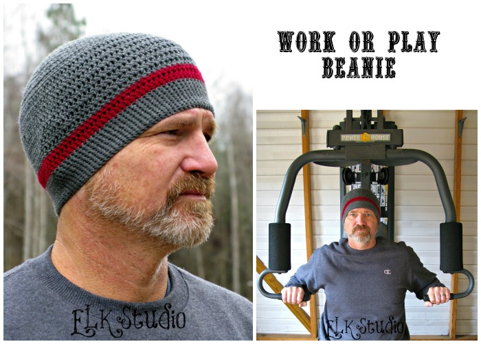Work or Play Beanie by ELK Studio #crochet #free pattern
