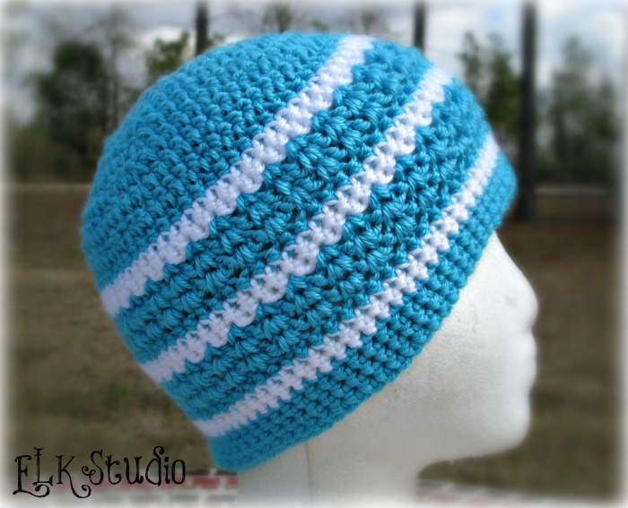 Hint of Spring Crochet Beanie by ELK Studio #beanie #freepattern