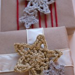 Glittery Crochet Stars