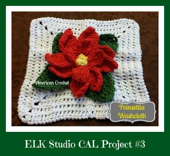 Poinsetta-Washcloth-by-American-CrochetELK Studio CAL Project #3