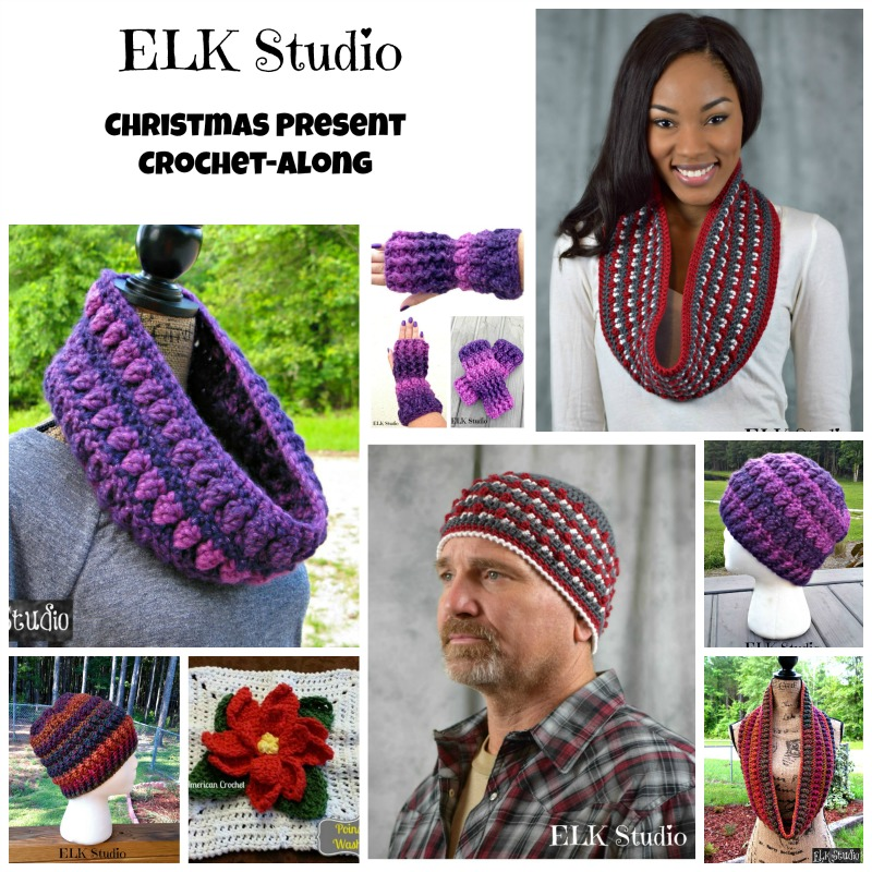 We are Celebrating the Christmas Present Crochet-Along with a Give-Away Sponsored by Red Heart Yarns!
