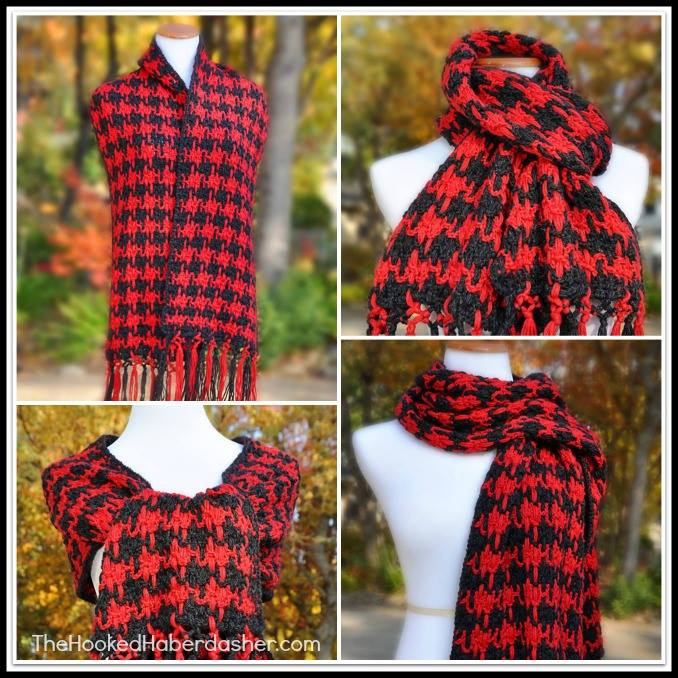 Houndstooth Scarf Crochet Pattern