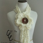 Super Chunky Flower Chain Scarf