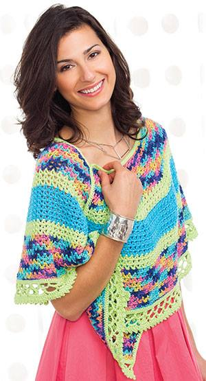 Tori Crescent Shawl by ELK Studio in the Summer 2016 Issue of Crochet! Magazine