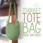 Market Tote Bag Little Monkeys Crochet