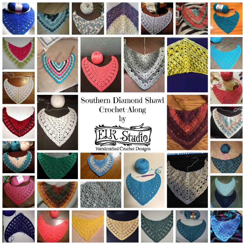 Southern Diamond Crochet-Along Week 2 Collage 1 by ELK Studio