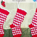 Houndstooth Mini Stocking