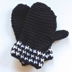 houndstooth mittens