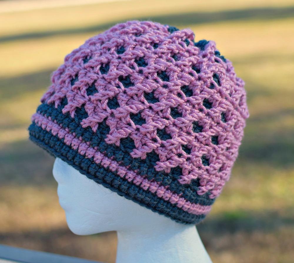 Rose's Crossing Beanie by ELK Studio - A Free Crochet Pattern