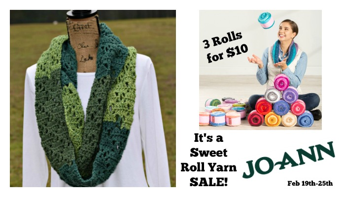 It's a Sweet Roll Yarn Sale at JoAnn Fabric and Craft Stores!