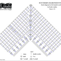 Diagram For Granny Square Crochet Stitch Lighting Diagrams Portrait Photography Southern Diamonds Poncho Rounds 1 15 By Elk