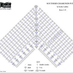 Diagram Crochet Pattern Yamaha Fuel Management Wiring Southern Diamonds Poncho Stitch Rounds 1 15 By Elk