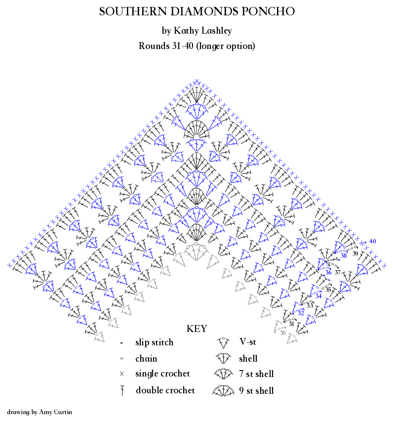 Southern diamonds stitch diagram extended rows elk studio right handed stitch diagram ccuart Choice Image