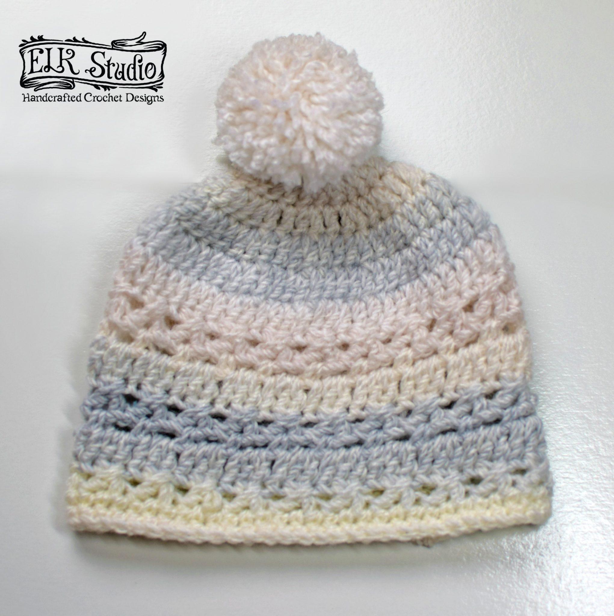 61af4a8f589 FREE Crochet Hat Patterns by ELK Studio