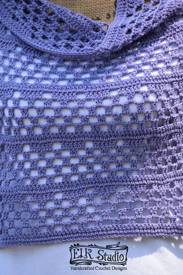 Dixie Charm Wrap Up Close Free and Elegant Crochet Pattern by ELK Studio