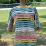 Open Crochet Canyon Tunic Full View