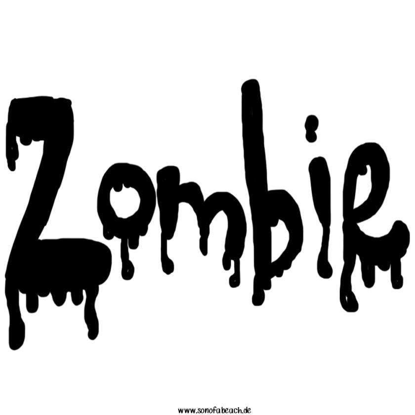 Zombie Schriftzug Halloween