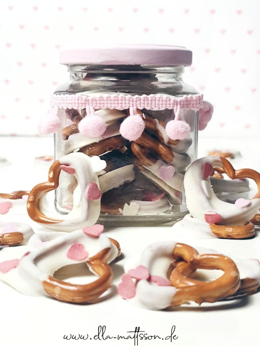Valentinstag Brezel diy basteln snack rezept geschenkidee selbermachen