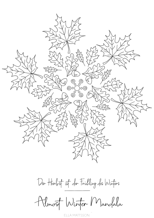almost winter ausmalbild mandala