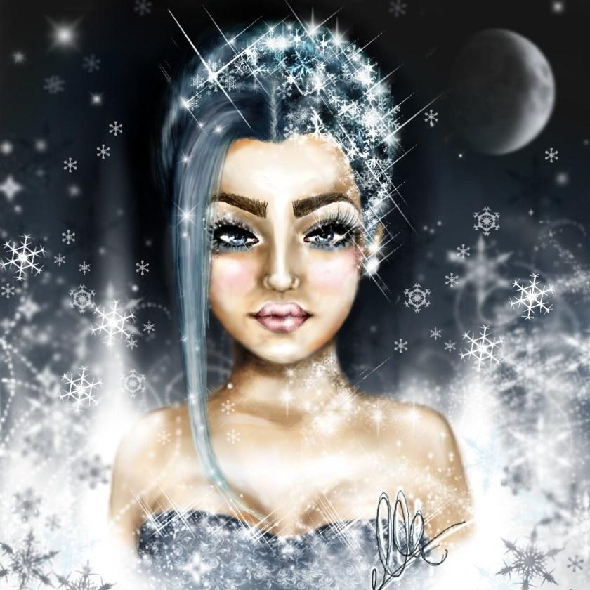 eis prinzessin illustration winter queen snowqueen