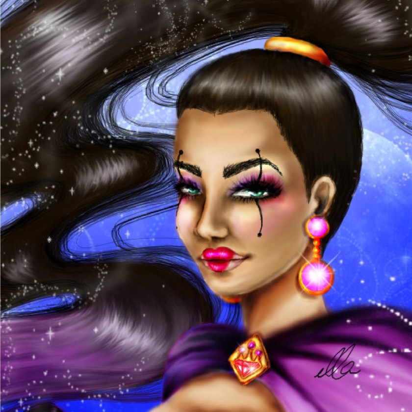 universe girl power superwoman illustration