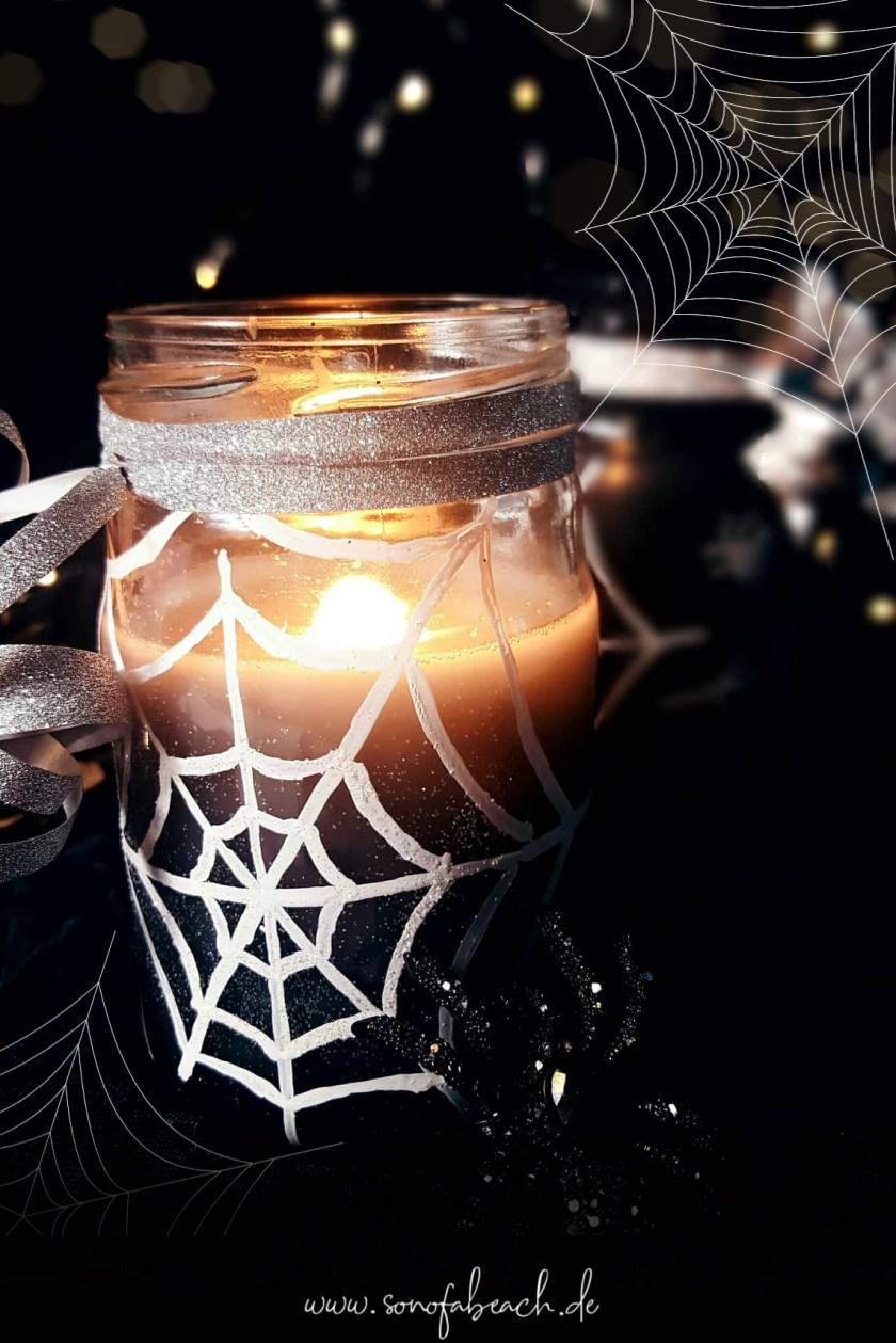 halloween kerze diy bateln selbermachen idee gruselig