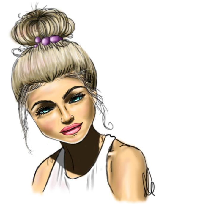 beauty illustration frau mit dutt