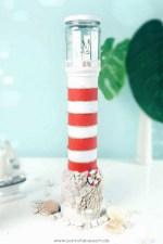 leuchtturm diy basteln bastelidee maritime deko