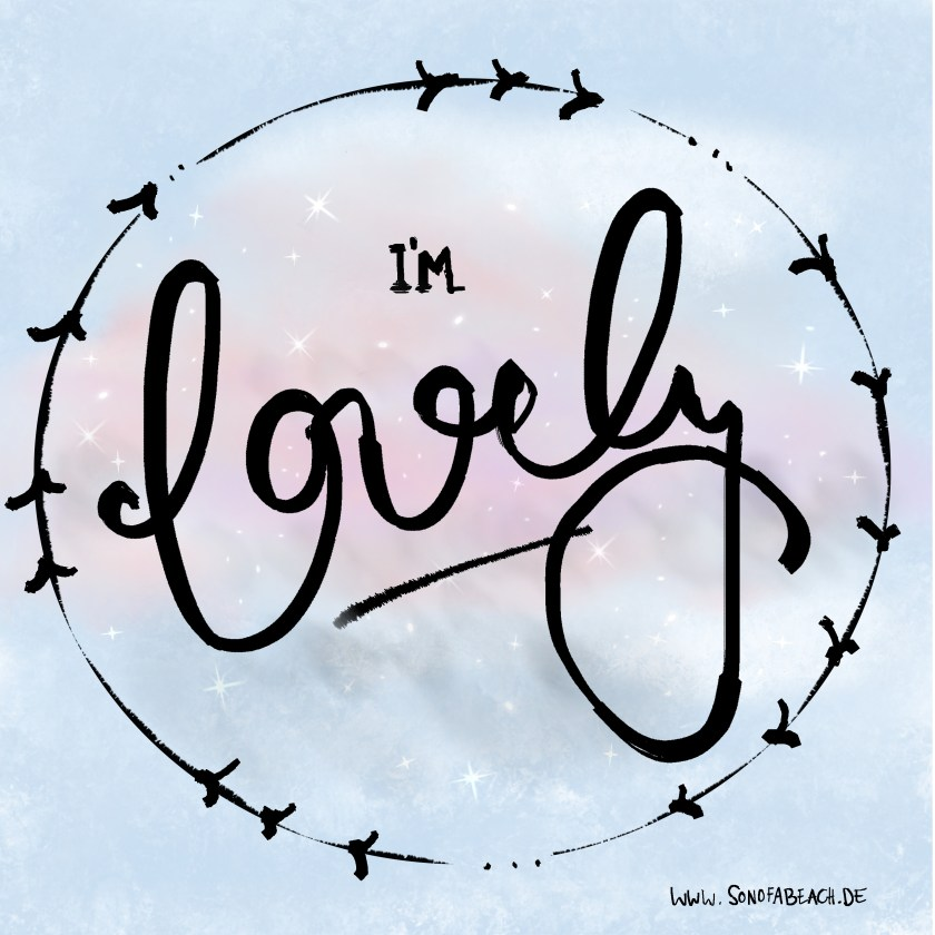 hand lettering with gimp lovely