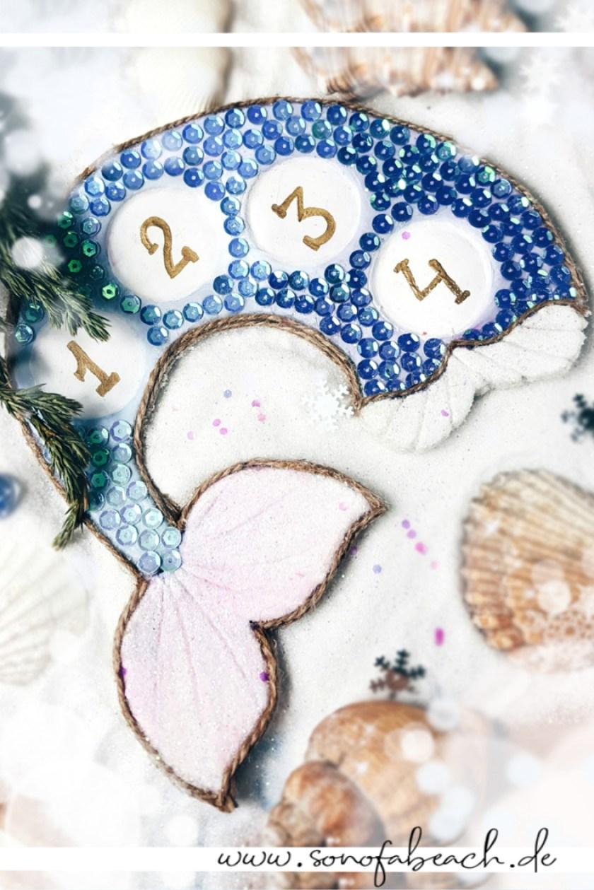 meerjungfrau mermaid adventskranz diy basteln advent idee selbstgemacht