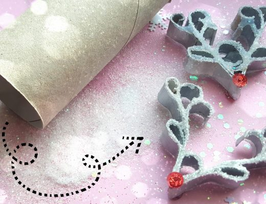 rudolf ornament aus papierrolle nase