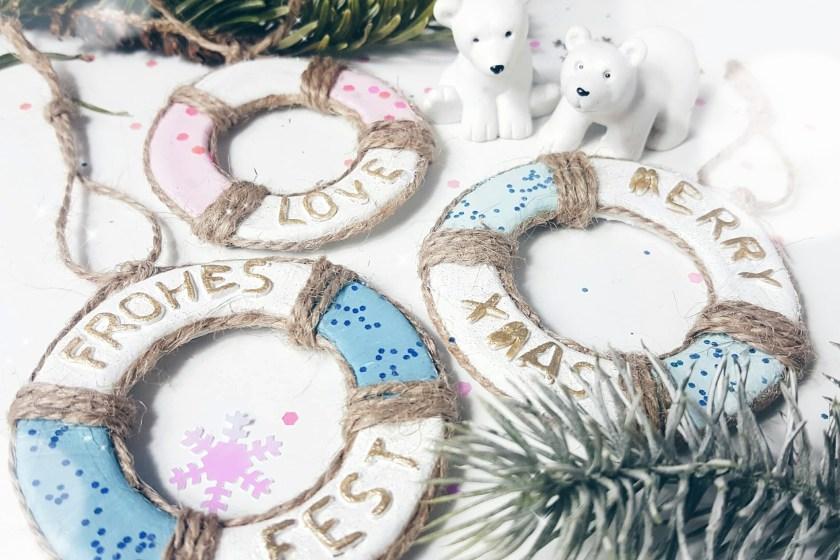 weihnachtsdeko maritim ornamente diy basteln rettungsring