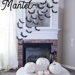 Bat Living Room Bay Window Treatments For Diy Halloween Flying Mantel Free Template Ella Claire Create An Easy And Inexpensive By Using This To Use Varying Sizes Of