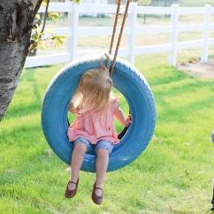 Swinging Chair Outdoor Diy Ruffled Covers Wedding Easy Tire Swing - Ella Claire