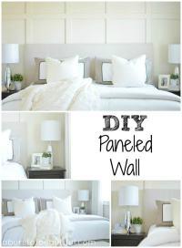 DIY Paneled Wall   DIY Wainscoting - Ella Claire