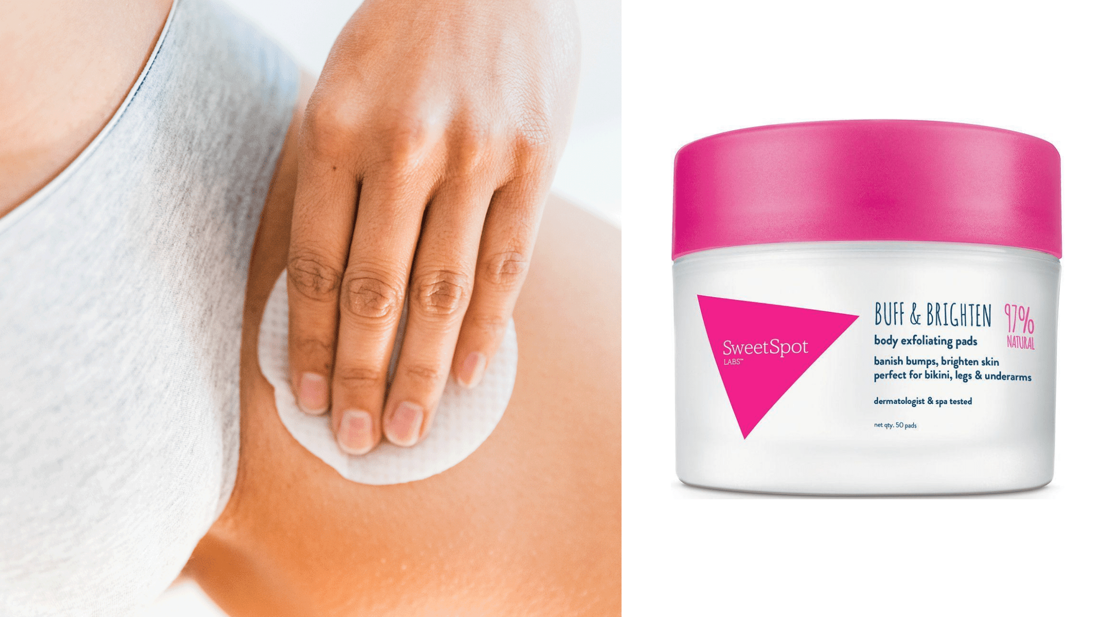 exfoliating pads for shaving