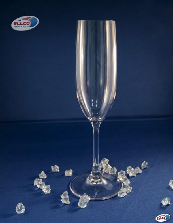 Acrylic Champagne Flute 6.5oz In Ellco Rentals Event