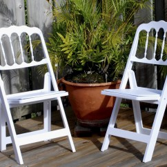 White Chair Rentals Swing Revit Folding Chateau With Padded Seat In Chairs At