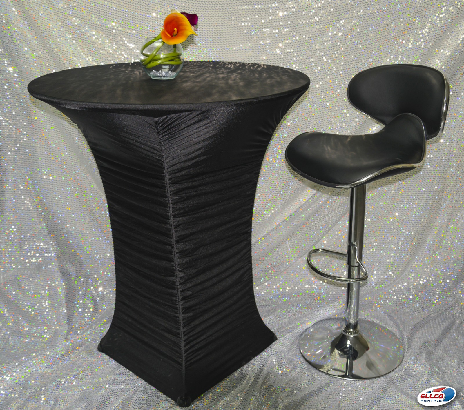 ruched spandex chair cover hula ellen cocktail in at ellco rentals event