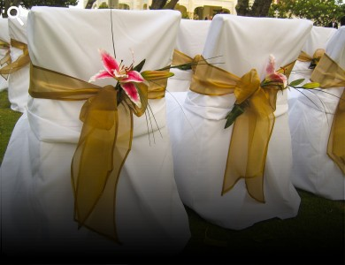 gold chair covers to rent grey swivel linen for at ellco rentals barbados equipment hire wedding cover white fits standard folding only