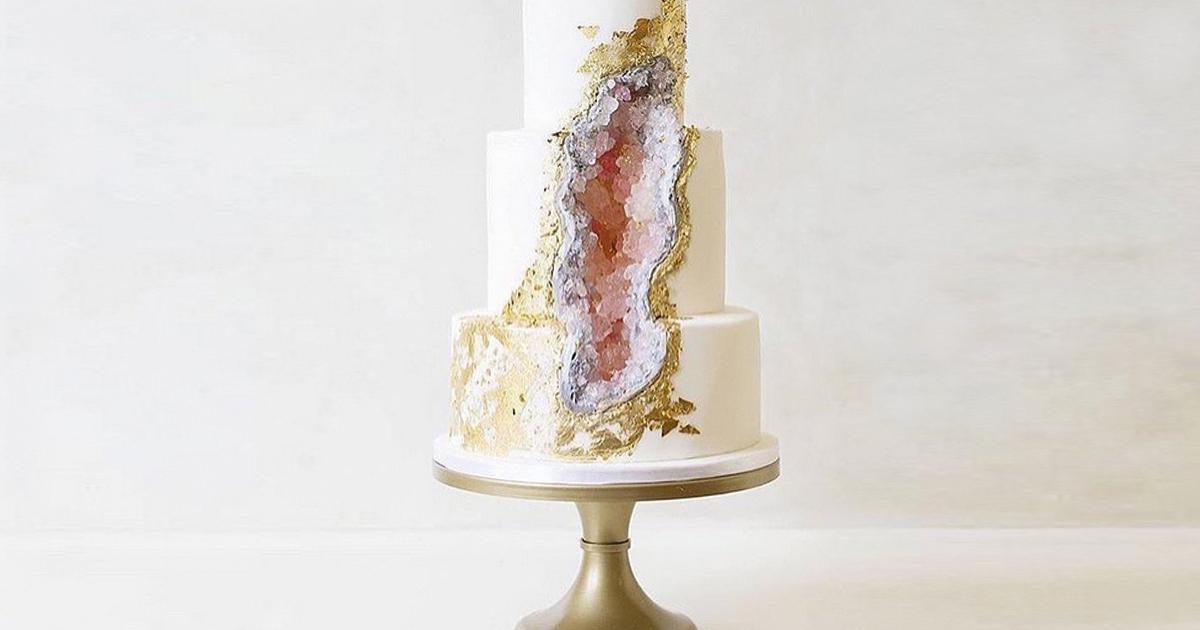 Geode Cakes Eine Torte die aussieht wie ein Kristall