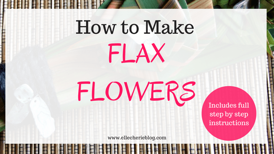 Step By Step Instructions On How To Make Flax Flowers Elle Cherie