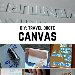 Diy Small Living Room Makeover House Beautiful Rooms Travel Quote Canvas - By Elle Croft