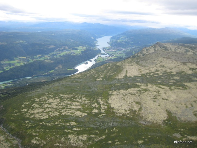 Vågå from over Blåhøe