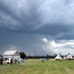 First storm just missed the airfield